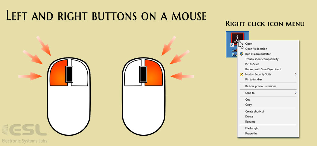mouse button Right