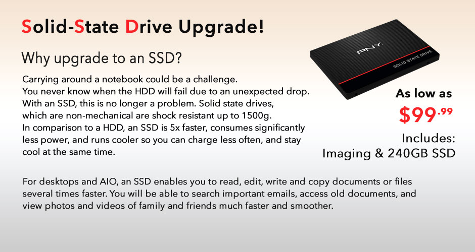 Solid-State Drive Upgrade! It's About Time